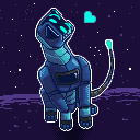 Happy Spacedog Pixel Icon 128x128 by SpaceDog500