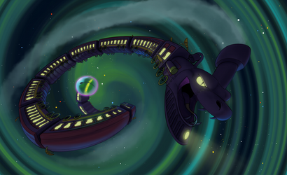through space and time by SpaceDog500