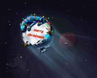 Christmas Comet by SpaceDog500