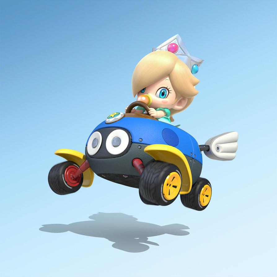 Baby Rosalina in Mario Kart 8 by Rosalina-Luma