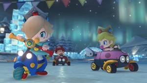 Baby Rosalina, Peach, and Mario