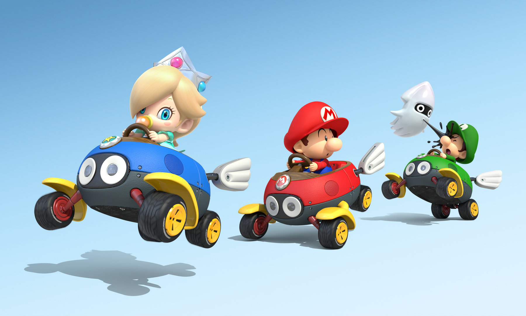 Baby Rosalina, Mario, and Luigi in Mario Kart 8 by ...