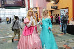 Princess Peach and Rosalina Cosplays