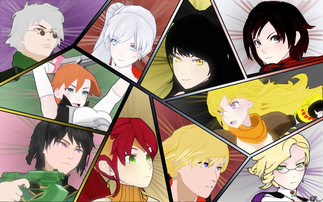 RWBY, JNPR, and Beacon Academy Leaders Collage by DanTherrien101