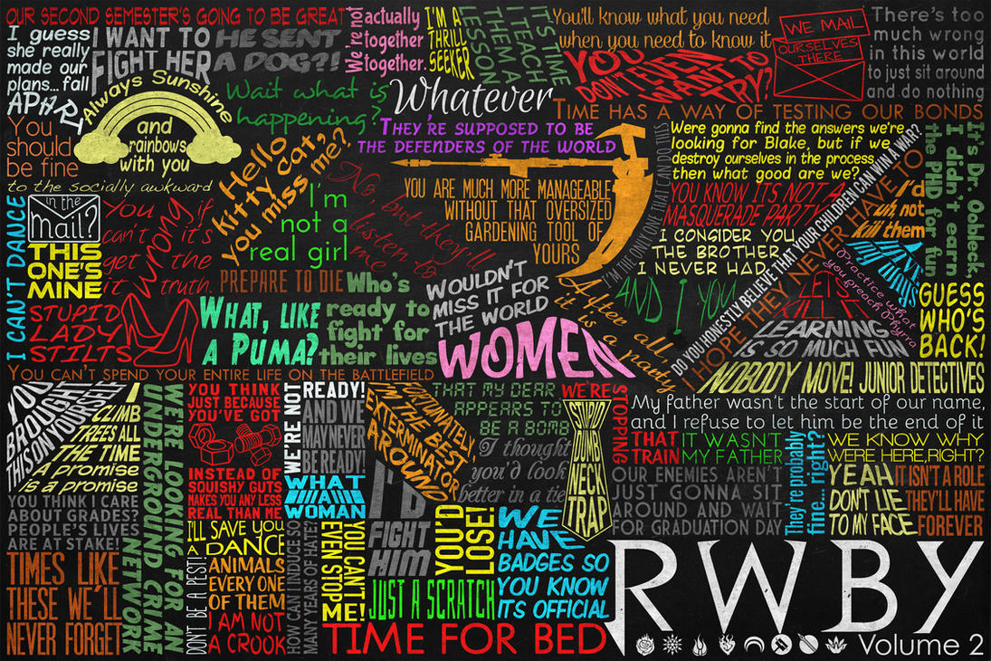 One Line Art Quotes : Rwby volume chalkboard quotes by dantherrien on deviantart