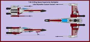 Luke Skywalker's Custom X-Wing Starfighter