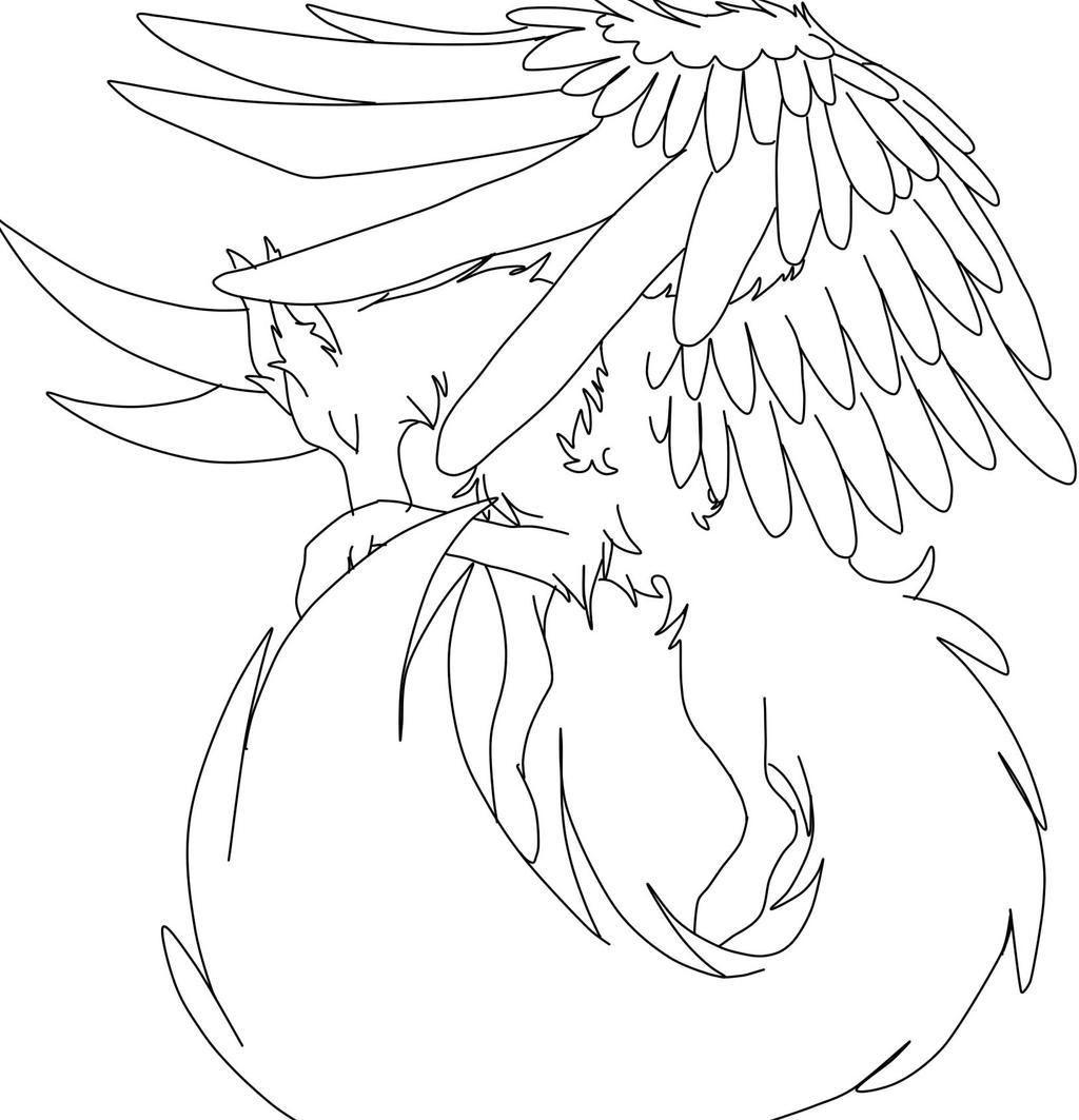 Line Art Angel : My angel line art by albinowriter on deviantart