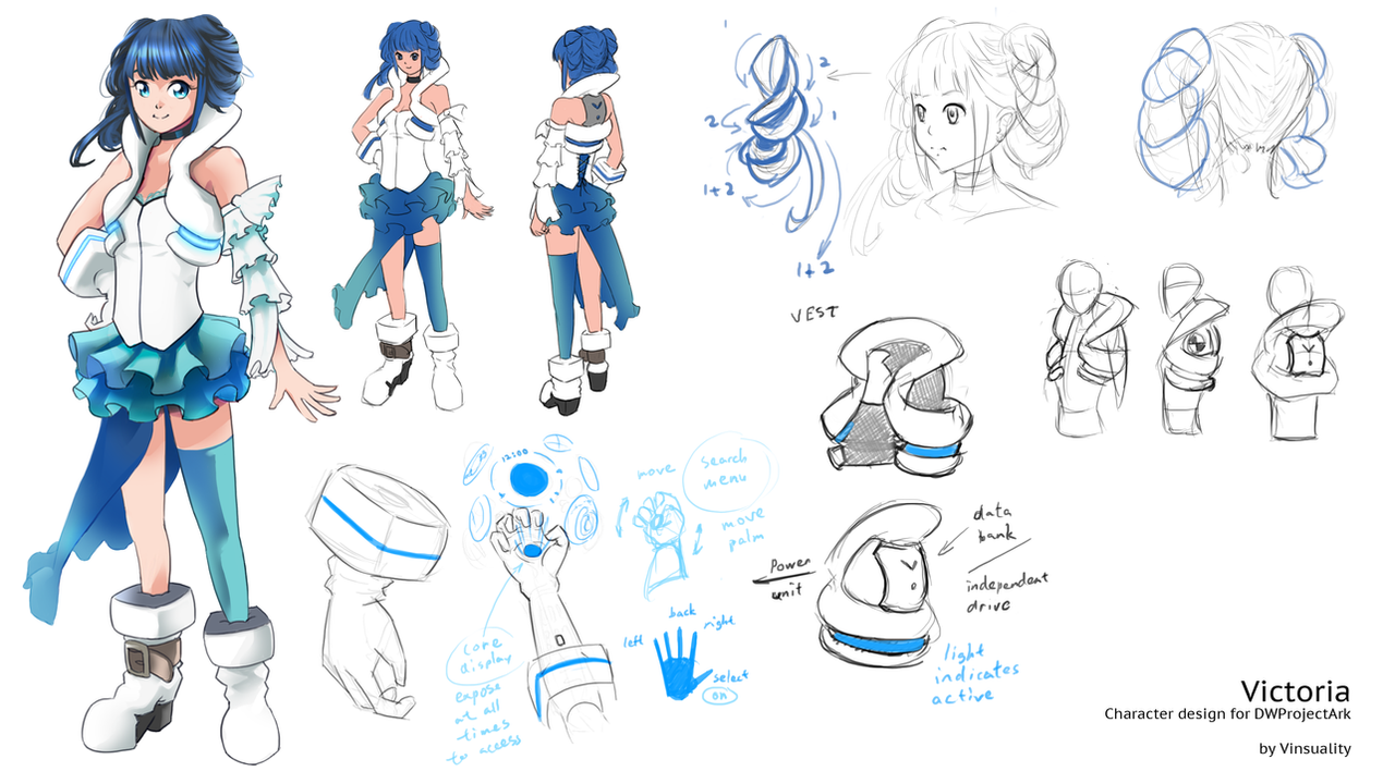 Character Design Competition 2015 : Dwprojectark character contest victoria by vinsuality on