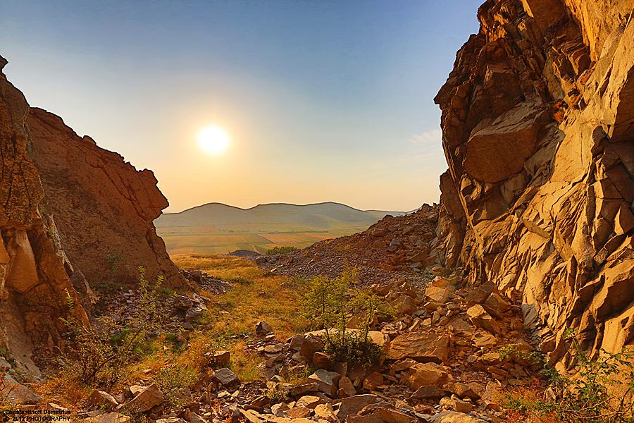 Sunset in Macin mountains by RichardConstantinoff