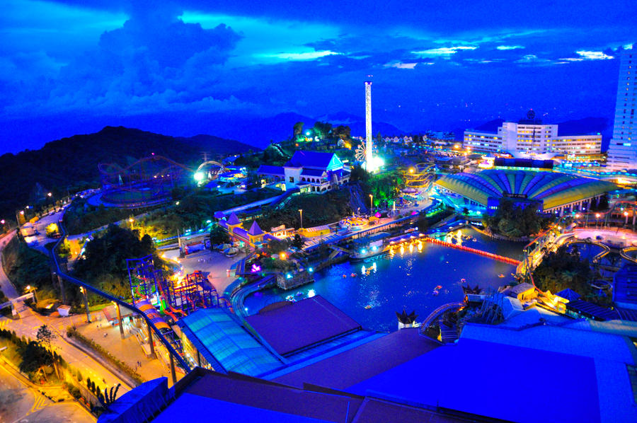 Genting theme park at night by zombieinyourgarden on deviantart - Highland park wallpaper ...