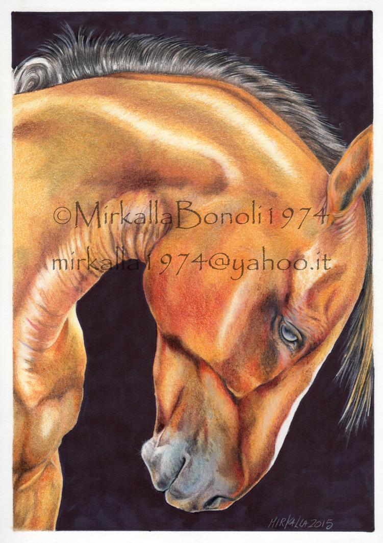 golden horse by ThessaGreenleaf