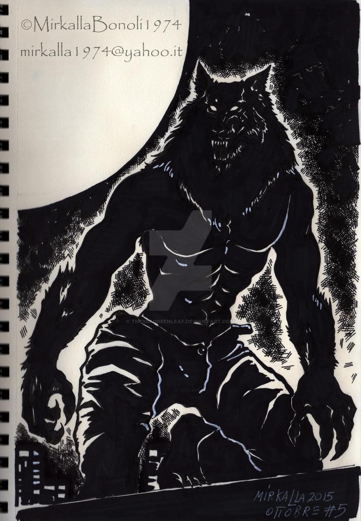 werewolf by ThessaGreenleaf