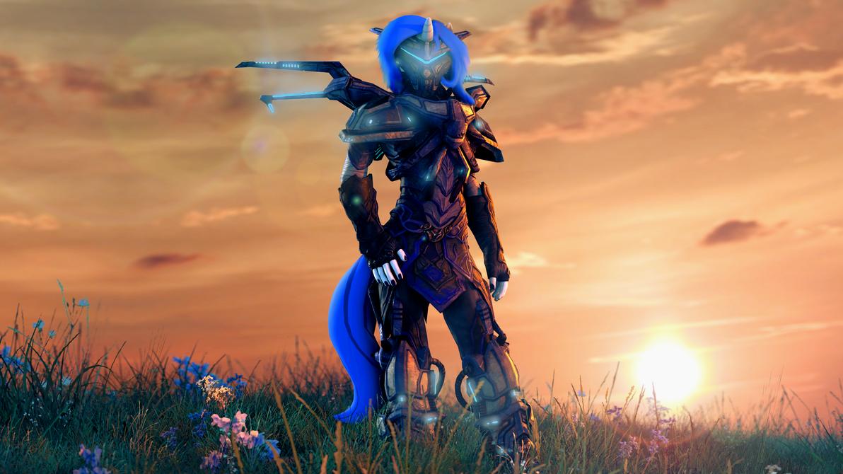 Deramina's battle armor by zOMG-a-DropBear