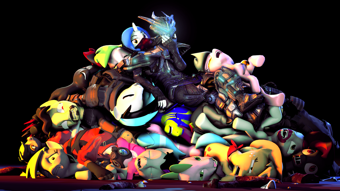 Pile O Dead Horse by zOMG-a-DropBear