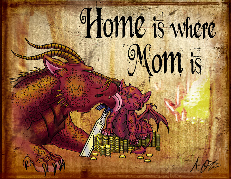 Dragons- Home is where Mom is by Eclpsedragon