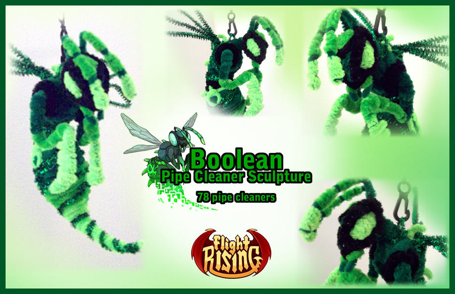 Boolean Pipe Cleaner Sculpture by Eclpsedragon