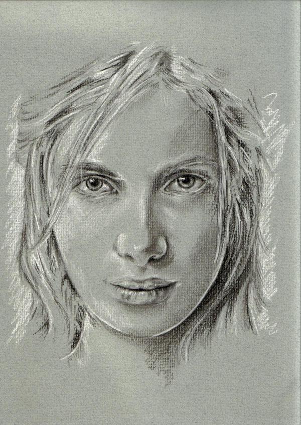 Pastel portrait grey 2 by btbartist