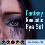Fantasy Realistic Eyes Set by Mabelle-Elise
