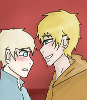 Kenny x Butters by caruxxanime05