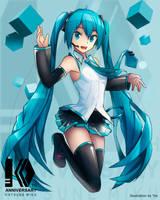Hatsune Miku 10th ANNIVERSARY by Virtual-World-TV