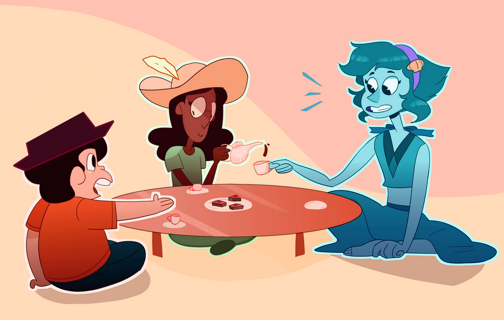 I just love the idea of Steven. Connie, and Lapis being the best of pals i love it i LOVE IT SO MUCh