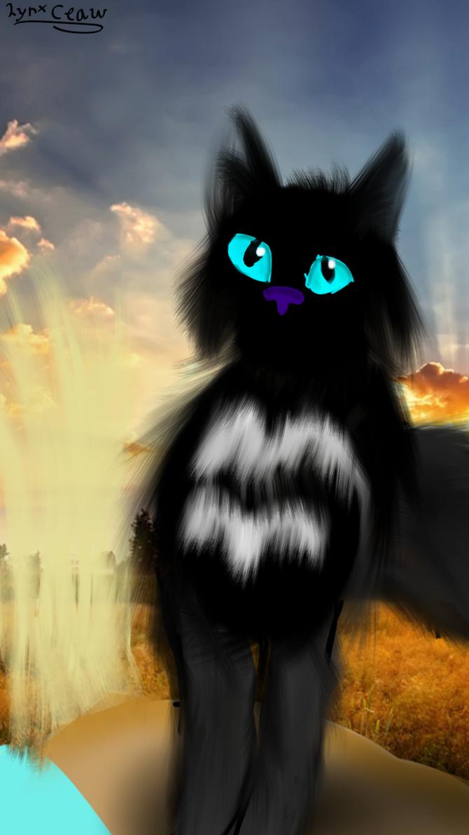 An random warriorcat OC (background isn't mine) by skythewingedcat
