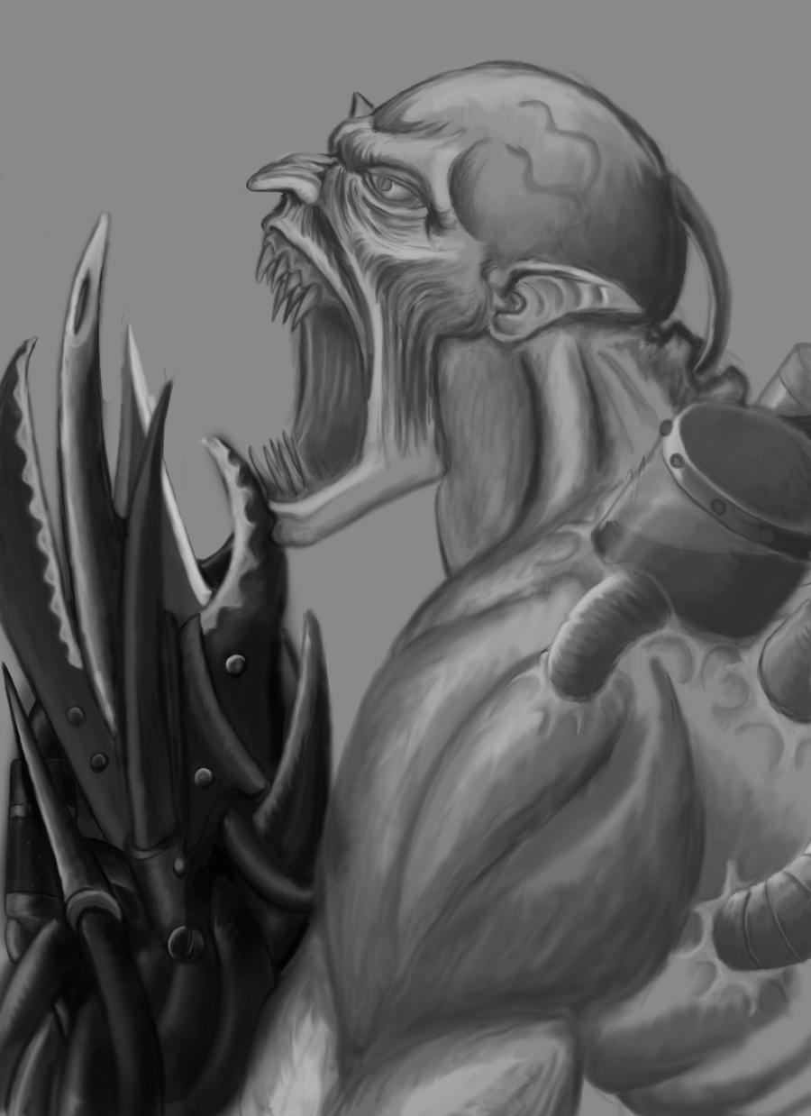 Malel - Vampiric Warbeast by underworlddreamer