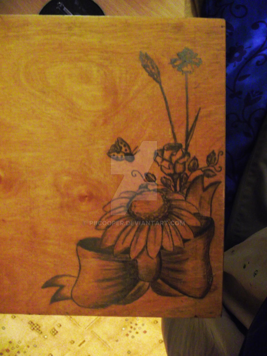 Pencil on Woodbox by PBCooper