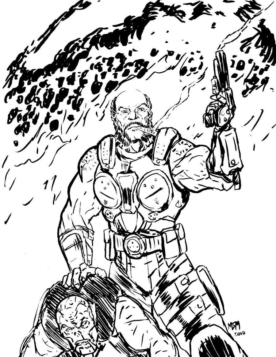 Gears Of War Michael Barrick By Milkmanx On Deviantart
