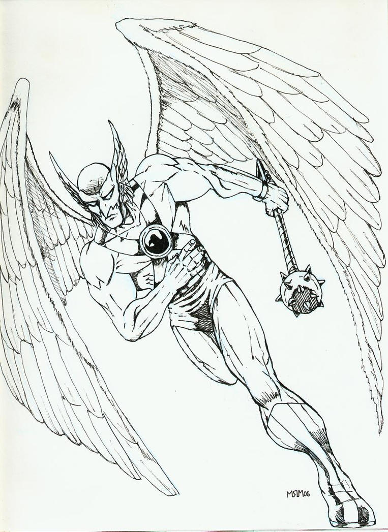hawk guy coloring pages - photo#18