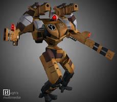 Tau Nova heavy combatsuit by hughtheindestructibl