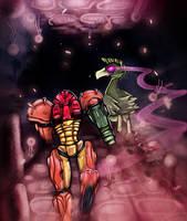 Super Metroid Samus Brinstar by Snopao
