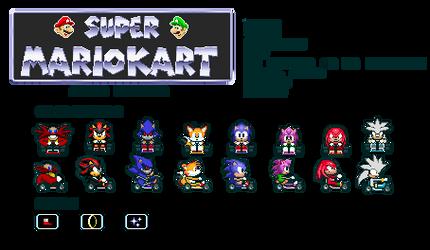 Super Mario Kart (Custom Sprites) - Sonic Edition by RuffyMugiwara