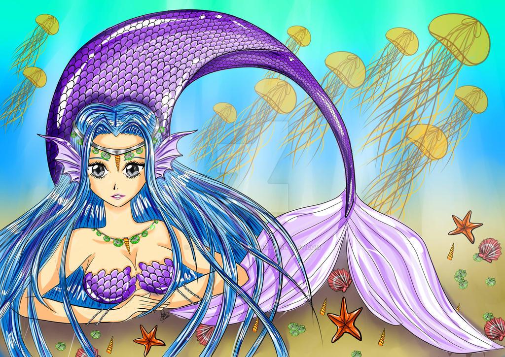 Monster Girl Challenge: Mermaid by Flairs-Crimson-Moon