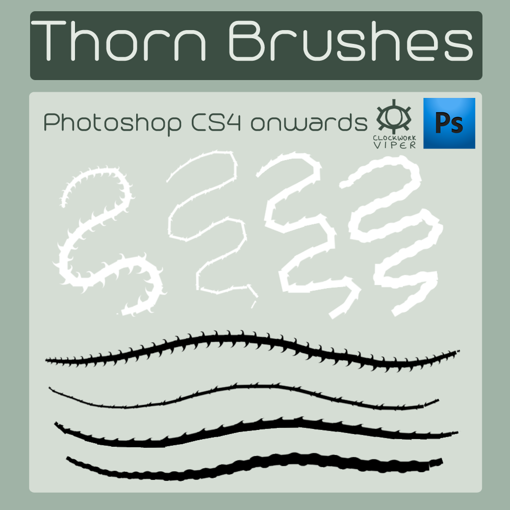 Thorn Brushes for Photoshop CS4+ by argonOracle on DeviantArt