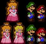 Modern-style Paper Mario 64 Sprites