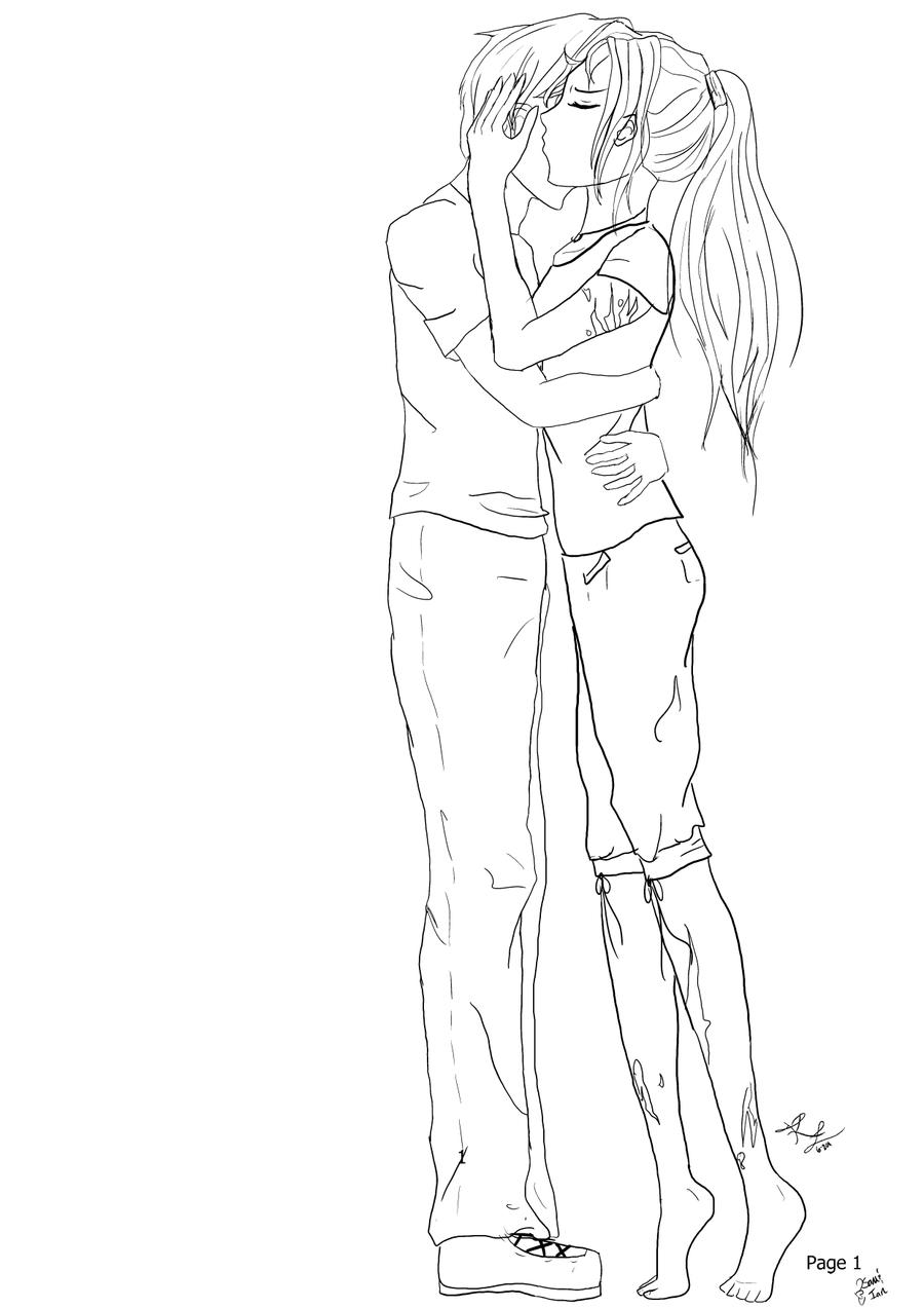 Hug Lineart by Amber-Rain on DeviantArt