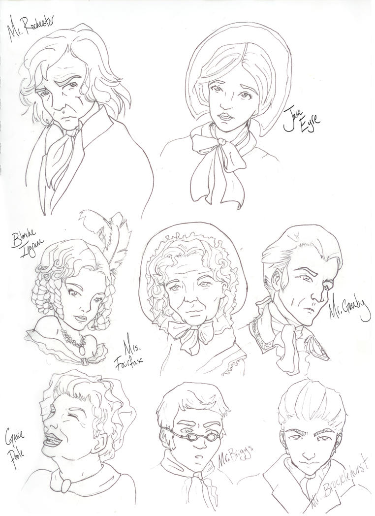 Jane Eyre Characters 1 by Amber-Rain on DeviantArt