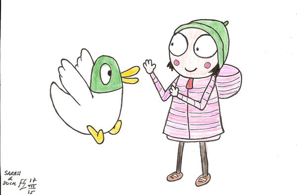 Duck Coloring Pages Sarah And 2 Color By Fff66 On Deviantart