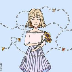 Dtiys 47 Sunflower Girl