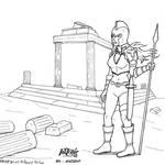 Inktober52 2021 4 Ancient with Hoplitea by FFF66