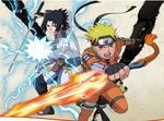 Naruto and Sasuke (Dragon Blade)