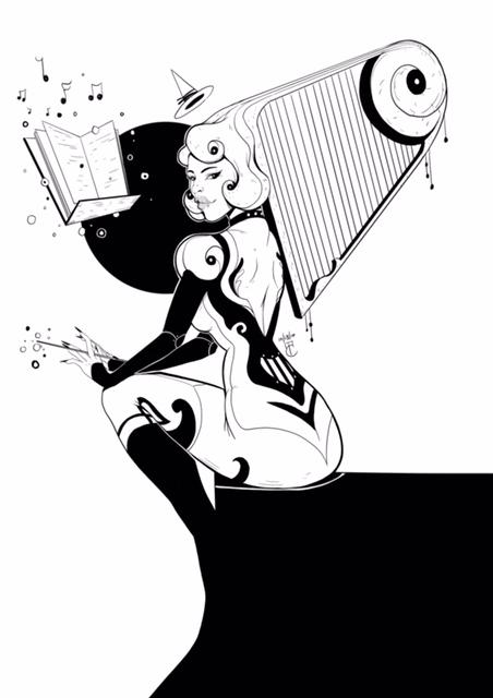 Inktober: Music Witch by lunaticenigma