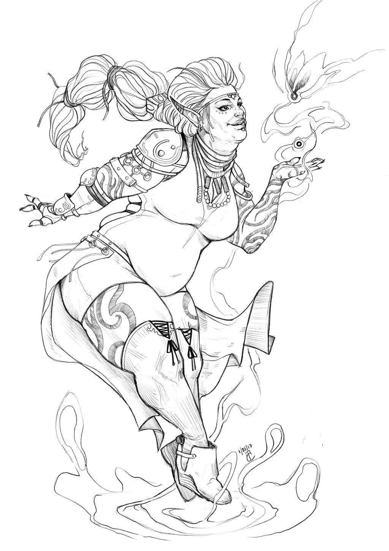 Druidess  by lunaticenigma