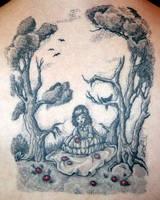 Skull Illusion Tattoo by nataliaborgia