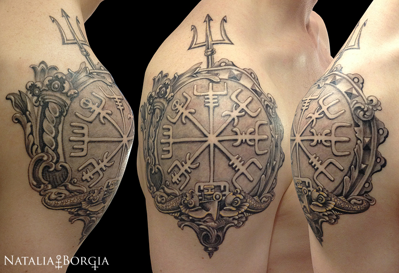 vegvisir viking compass tattoo by nataliaborgia on deviantart. Black Bedroom Furniture Sets. Home Design Ideas