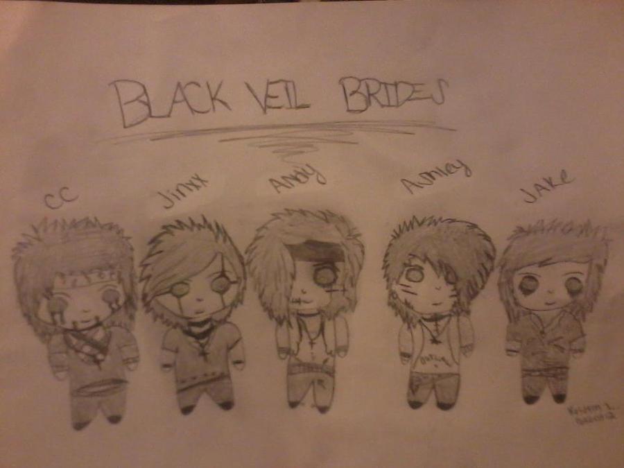 Black Veil Brides Chibis! :3 by Kristin-BVB-Fan
