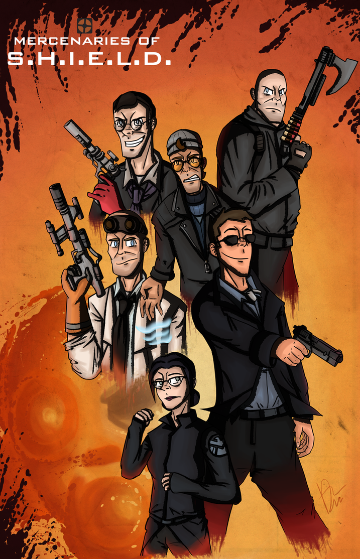 TF2/Marvel - Mercenaries of SHIELD by Beginneratart