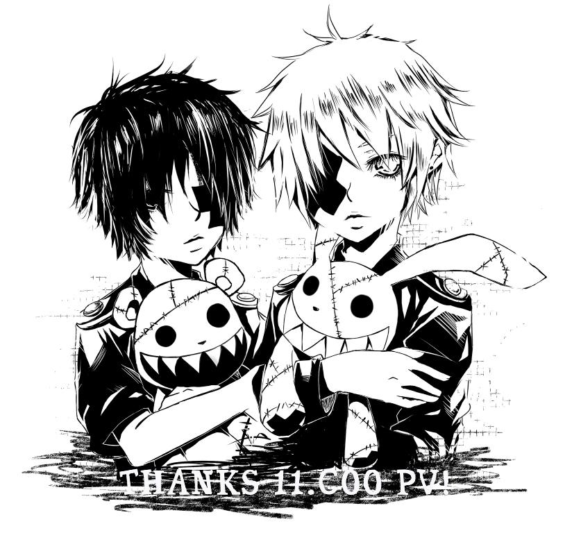 700+ Gambar Keren Anime Hitam Putih Gratis Terbaru