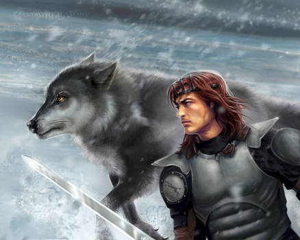 Robb and Grey Wind